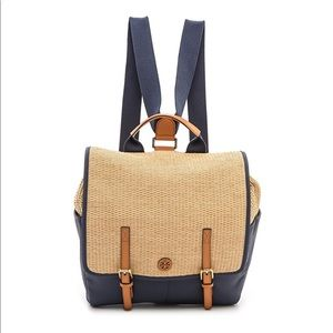 Tory Burch | Lydia Navy/Straw Backpack